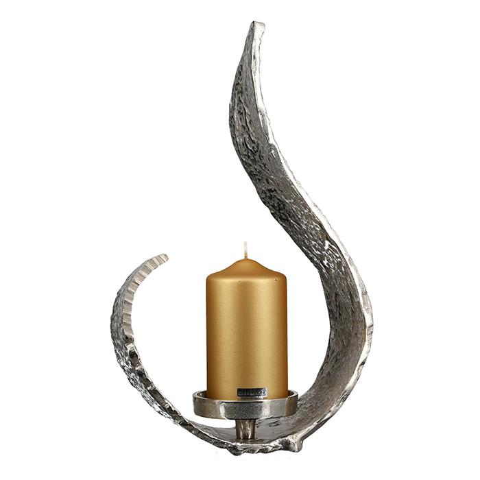 Svícen Dung, 42 cm, stříbrná