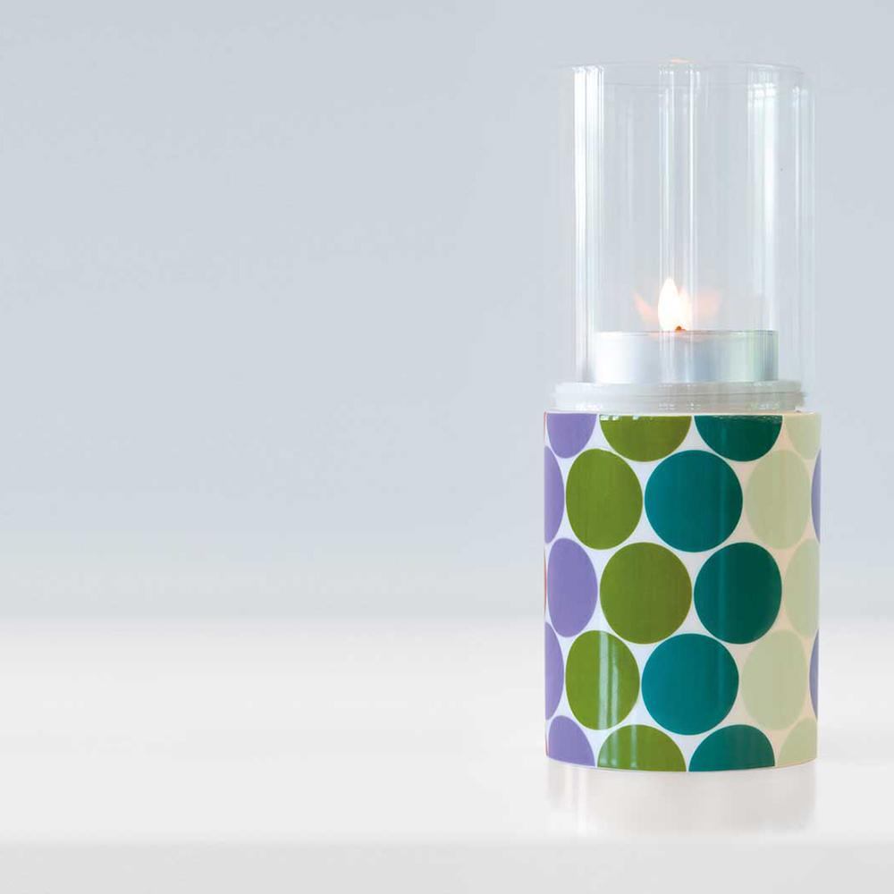 Svícen Flow, porcelán/sklo, 20 cm