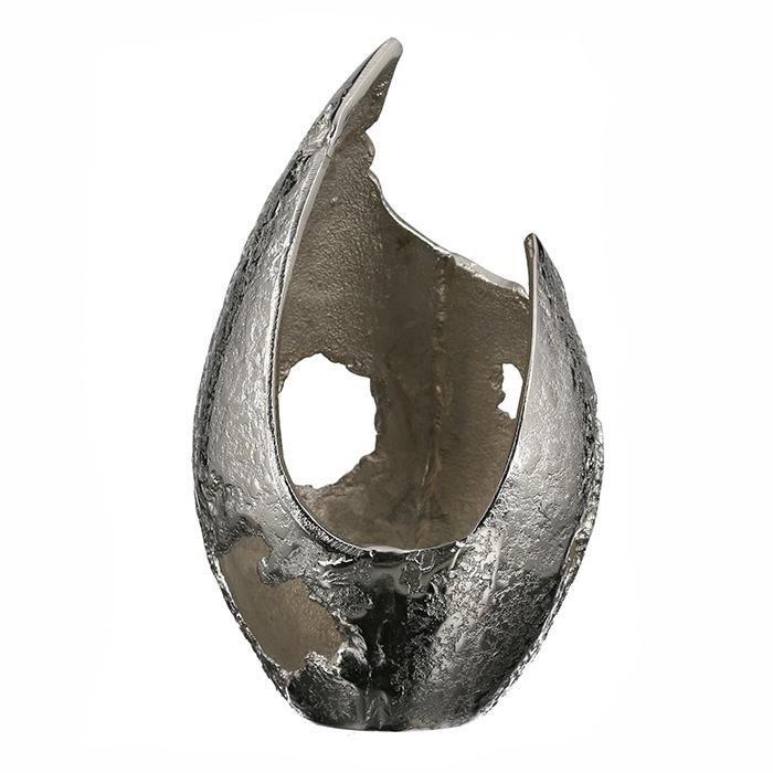 Svícen Guna, 28 cm, stříbrná