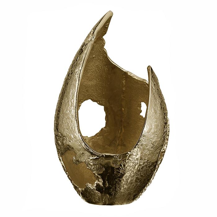 Svícen Guna, 28 cm, zlatá