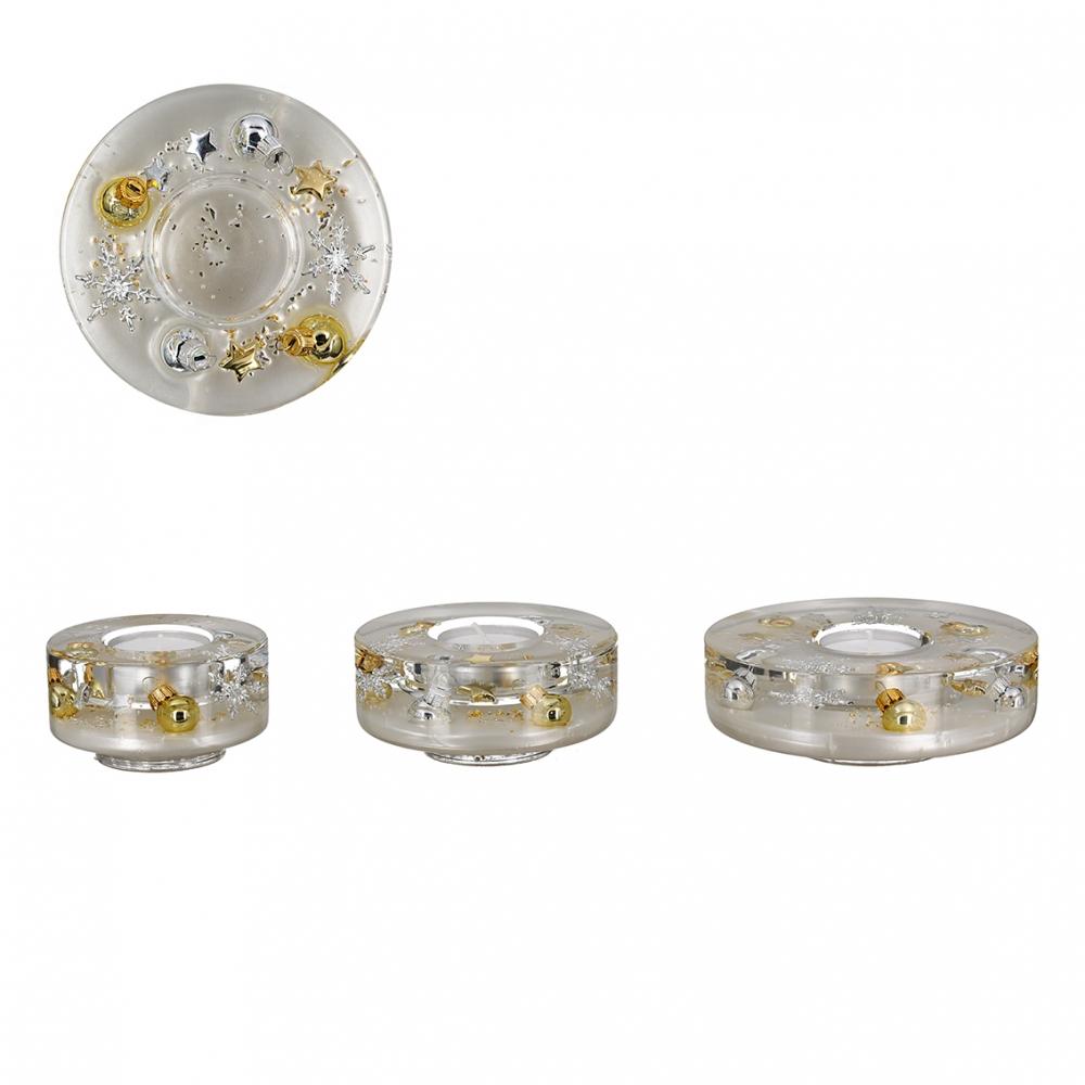 Svícen na čajové svíčky Elegan, 8 cm, zlatá