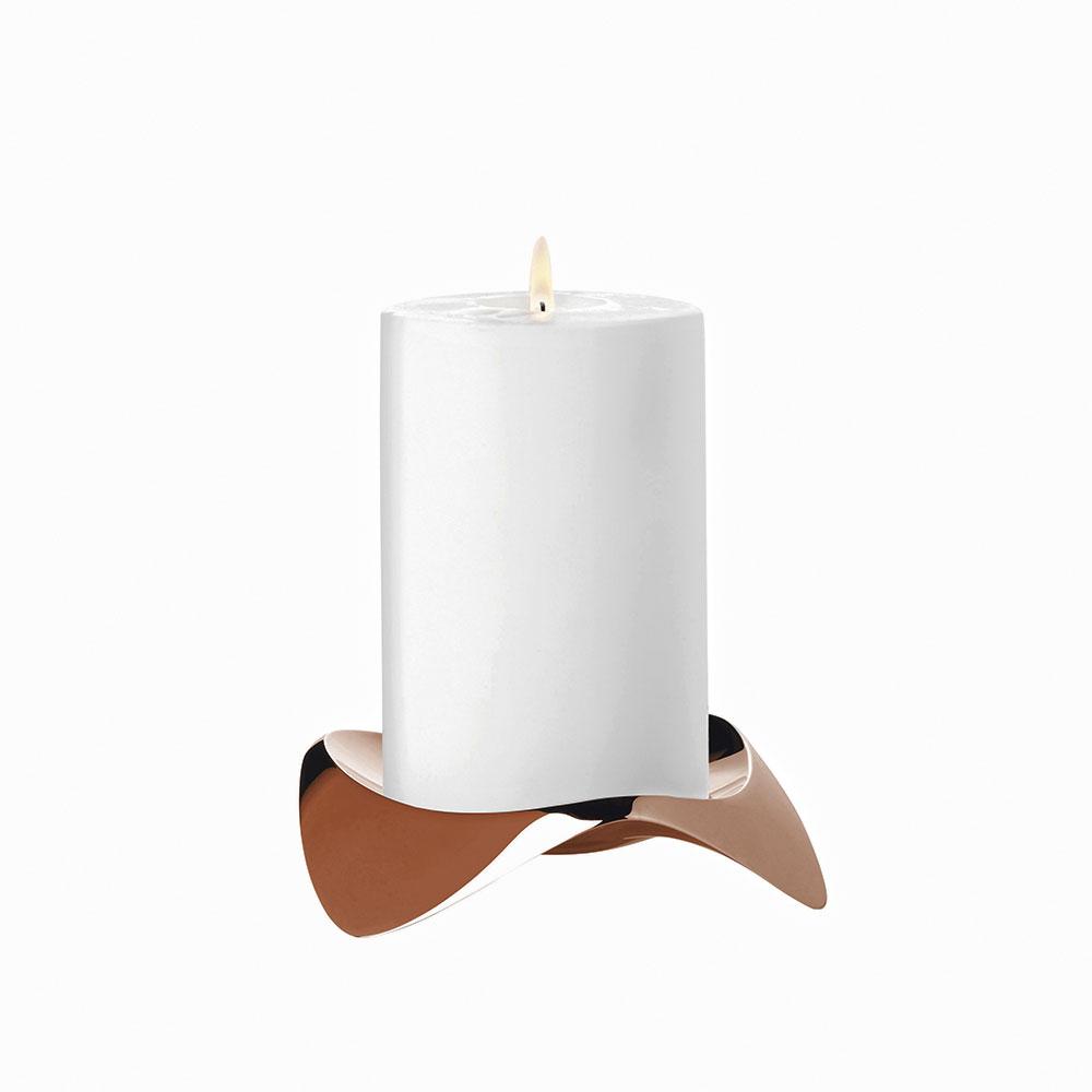 Svícen pro širokou svíčku Papilio, 12 cm, měď
