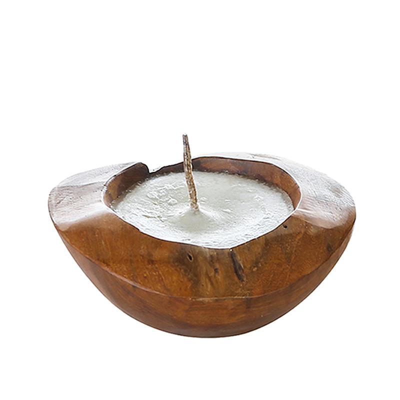 Svícen / svíčka teaková Holz, 20 cm