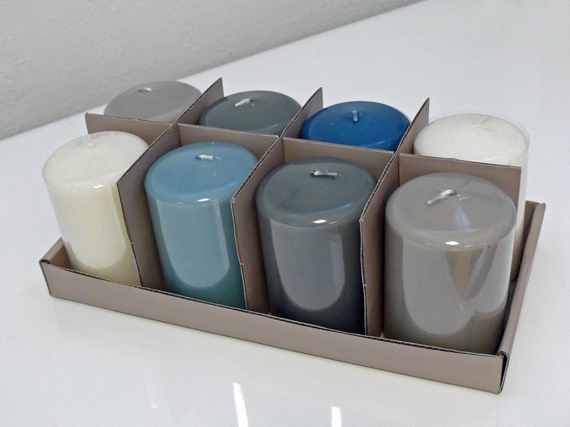 Svíčka s metalickým povrchem (SET 8 ks)