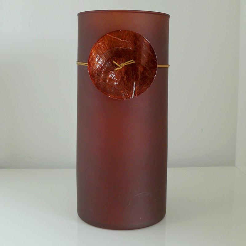 Svietidlo sklenené Tempus, 20 cm, hnedá