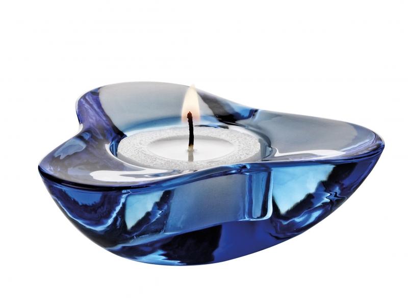 Svietnik na čajovú sviečku Aura , fialová