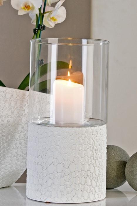 Svítilna Nuvolo keramika/sklo, 35 cm bílá
