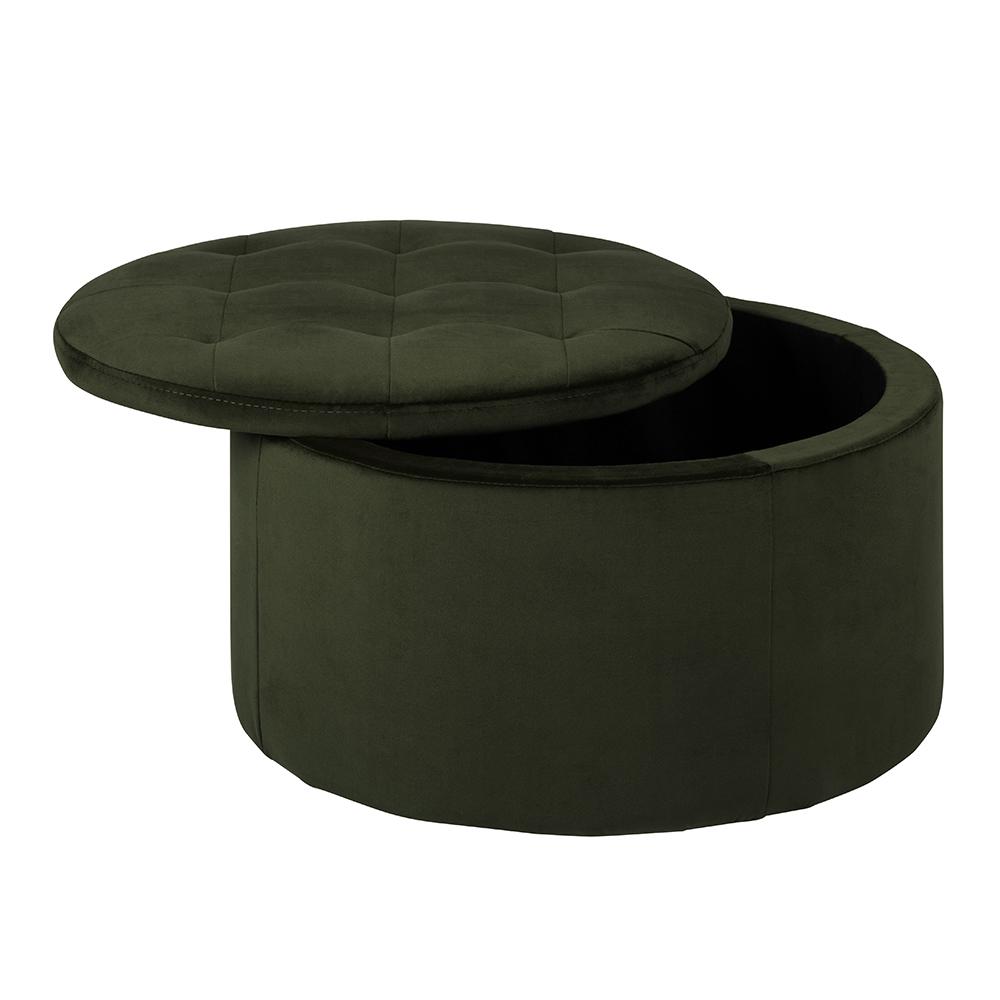 Taburet s víkem Locket, 60 cm, zelená