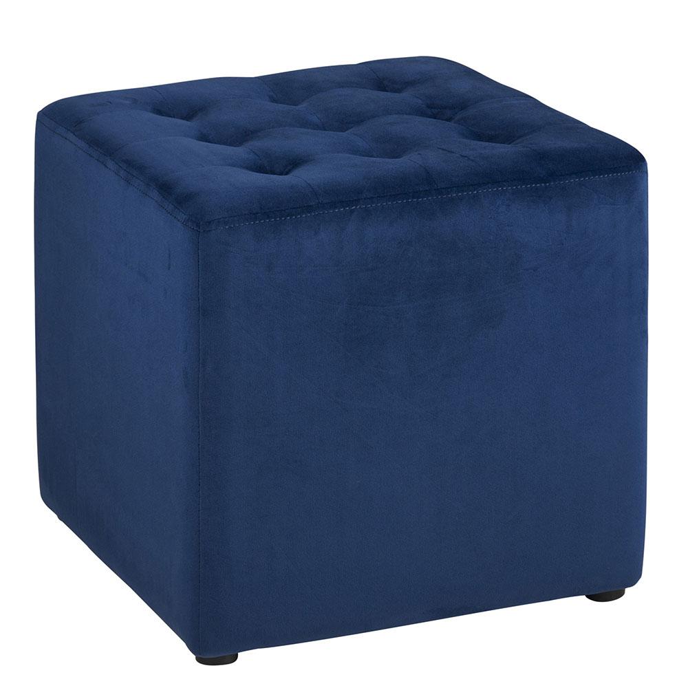 Taburetka čalúnená Brigita, modrá