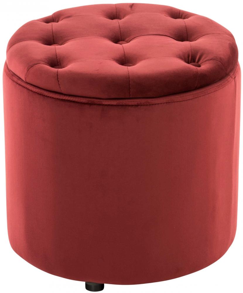Taburetka Pantini, samet, červená