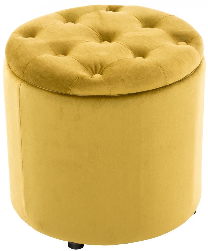 Taburetka Pantini, samet, žlutá