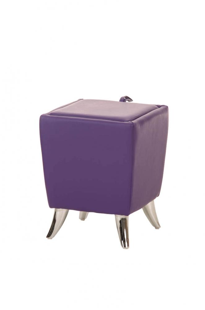 Taburetka Roxy, syntetická kůže, fialová