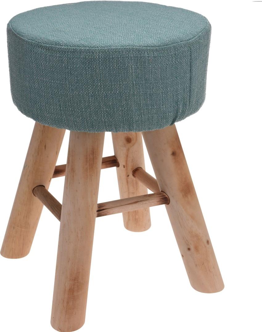 Taburetka s dřevěnými nohami Limpa, 30 cm, zelená
