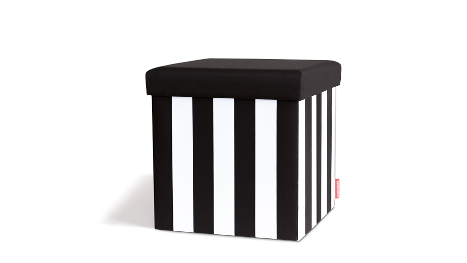 Taburetka s vekom Black&White, čierna / biela