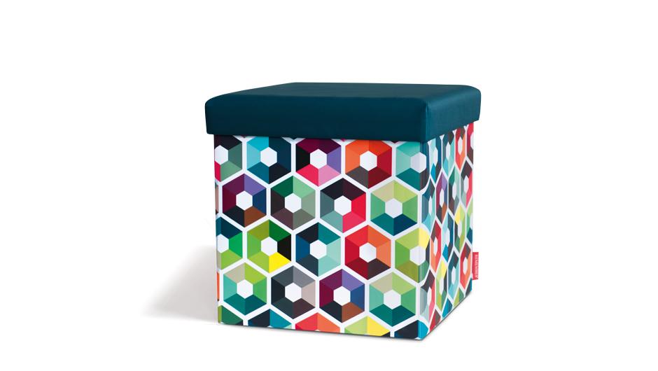Taburetka s vekom Hexagon, viac farieb