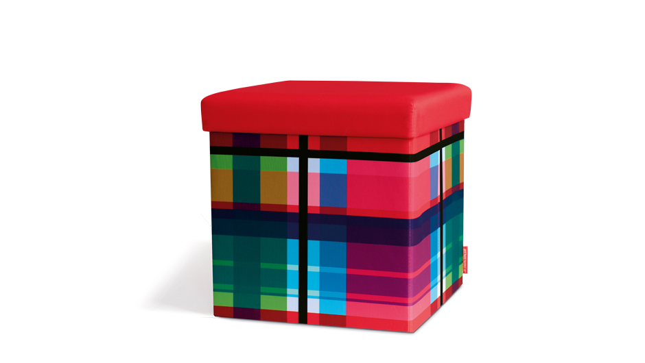 Taburetka s vekom Zigzag, viac farieb