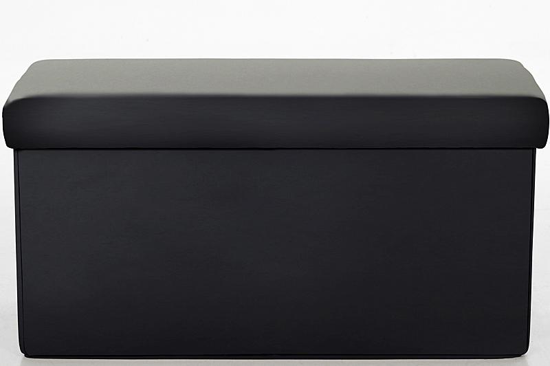 Taburetka s víkem skládací Simon, 80 cm černá