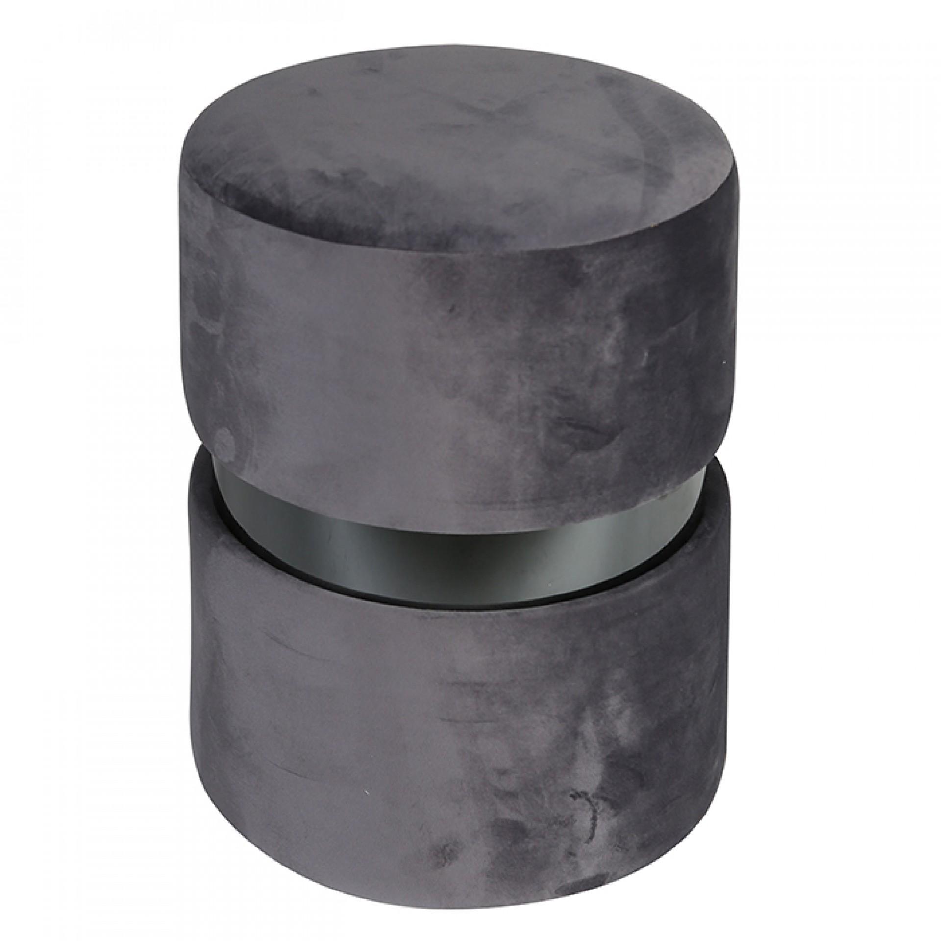 Taburetka / stolička Delight, 46 cm, šedá