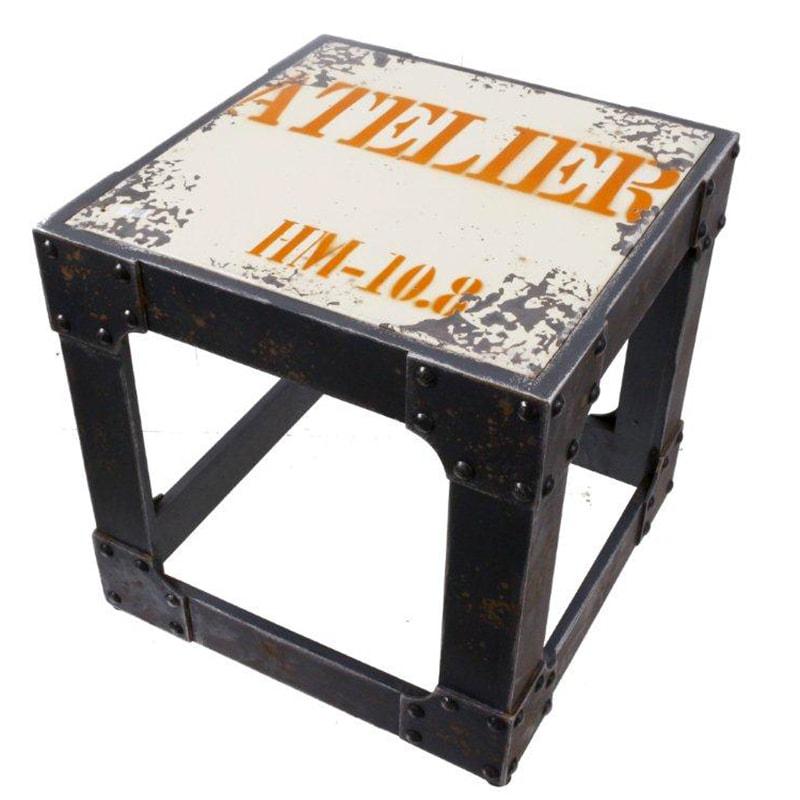Taburetka / stolička kovová Atelier, 40 cm, viac farieb
