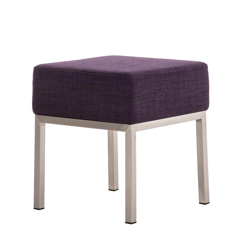 Taburetka / stolička s nerezovou podnoží Malaga textil