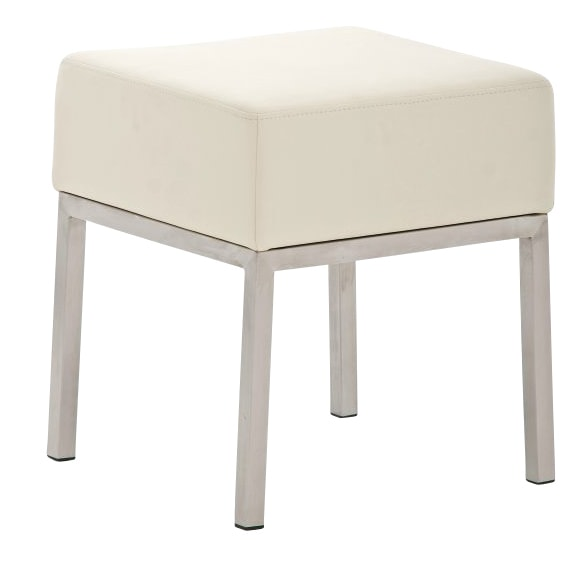 Taburetka / stolička s nerezovou podnoží Malaga krémová