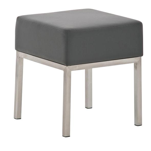 Taburetka / stolička s nerezovou podnožou Malaga , čierna