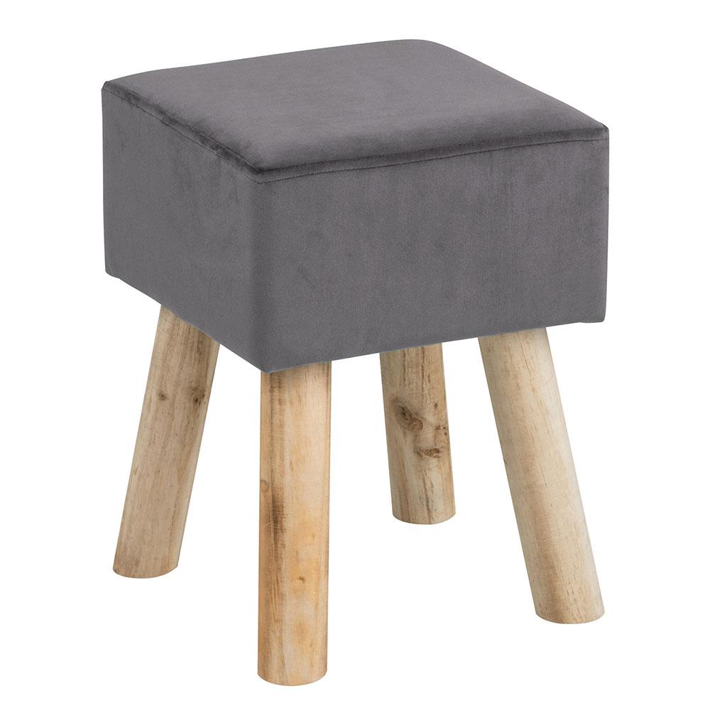 Taburetka štvorcová Marlen, šedá, šedá