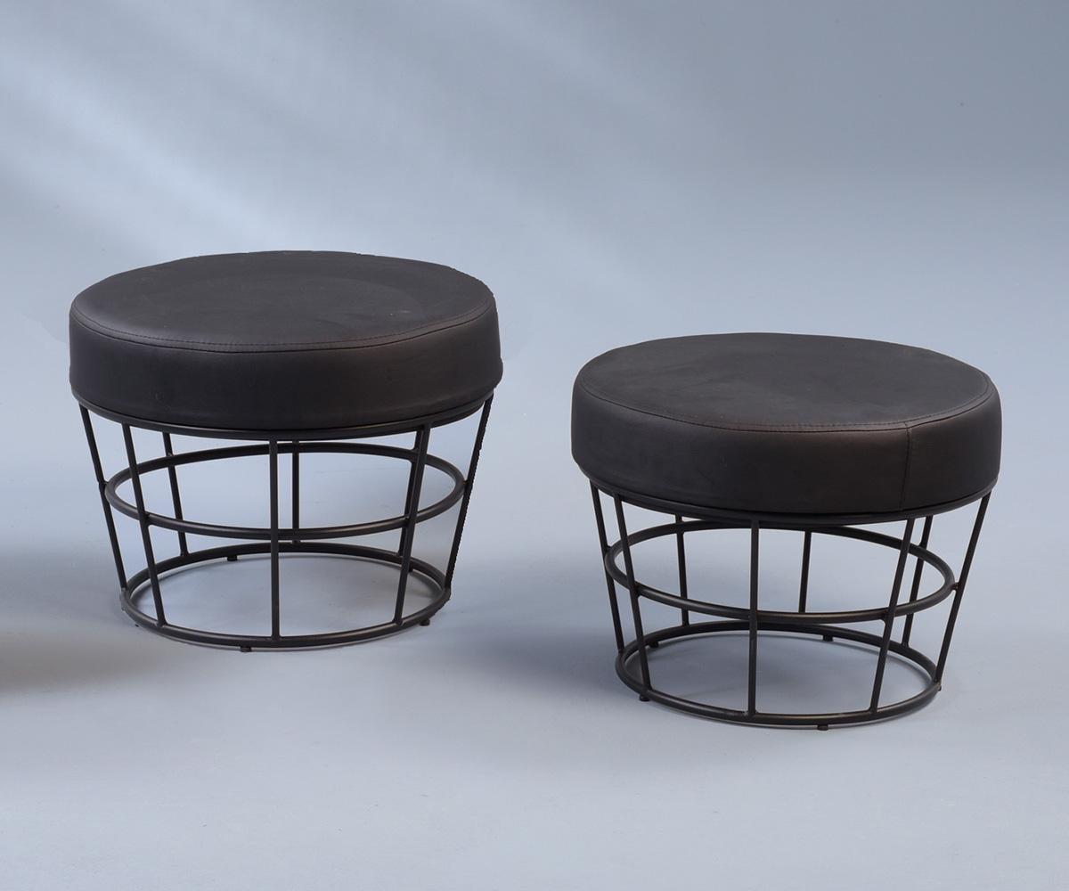 taburetky grey 48 cm set 2 ks design outlet. Black Bedroom Furniture Sets. Home Design Ideas