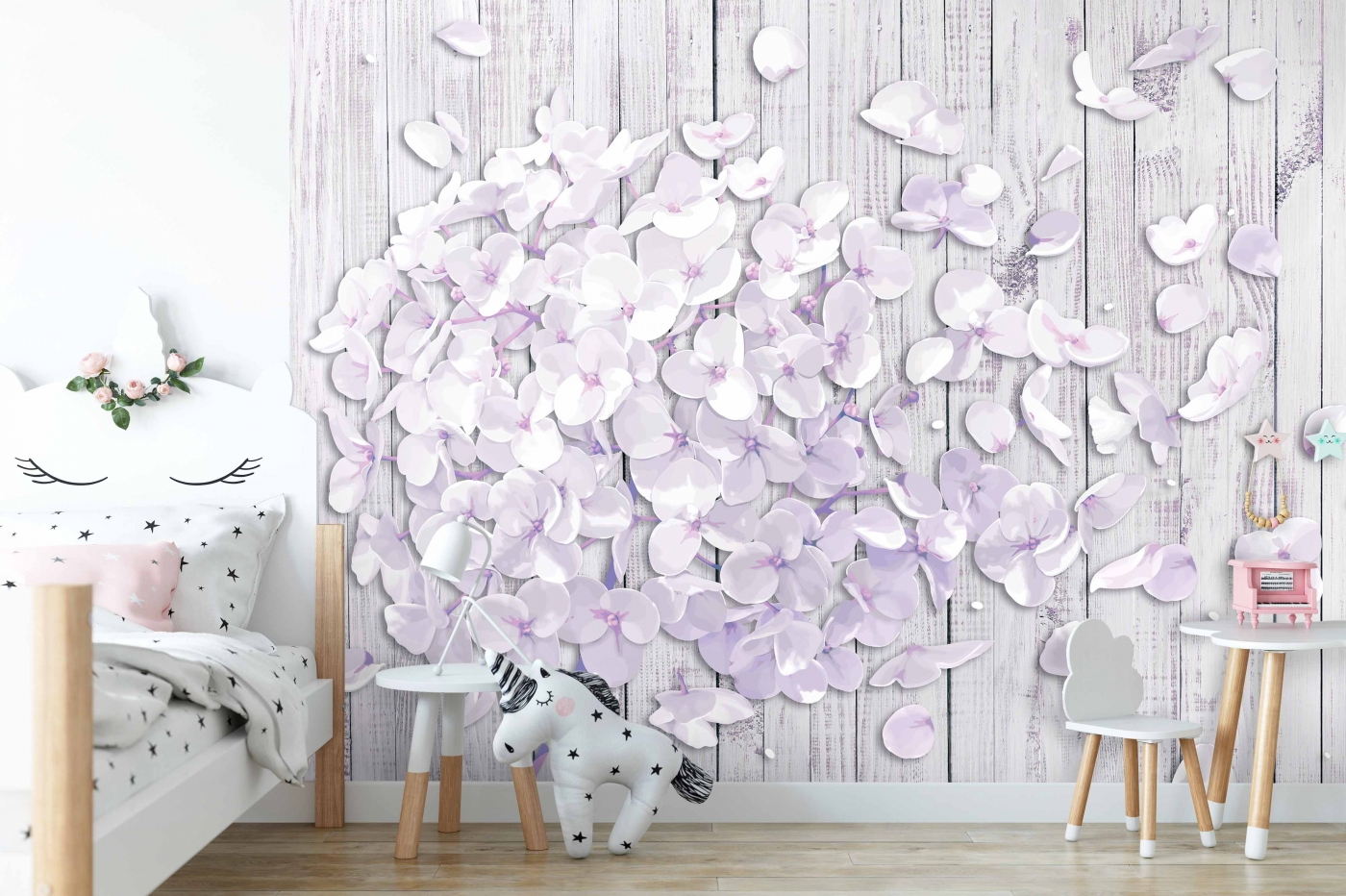 Tapeta 3D Odkvétající hortenzie, 216 x 140 cm
