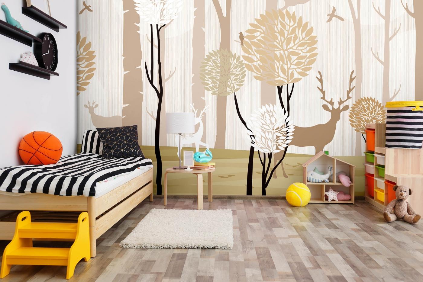Tapeta Béžový les, 432 x 290 cm