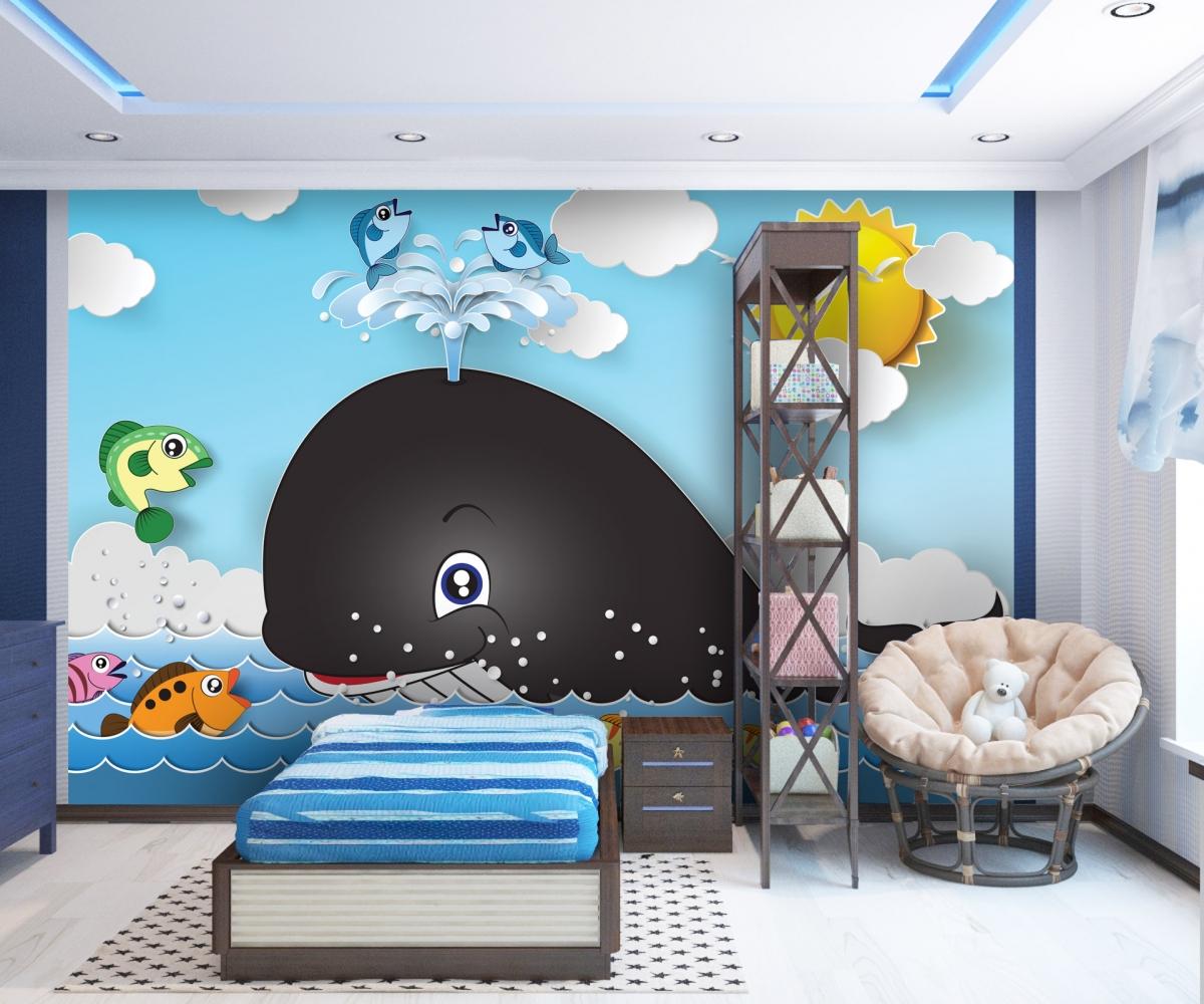 Tapeta Dětská velryba, 144 x 105 cm