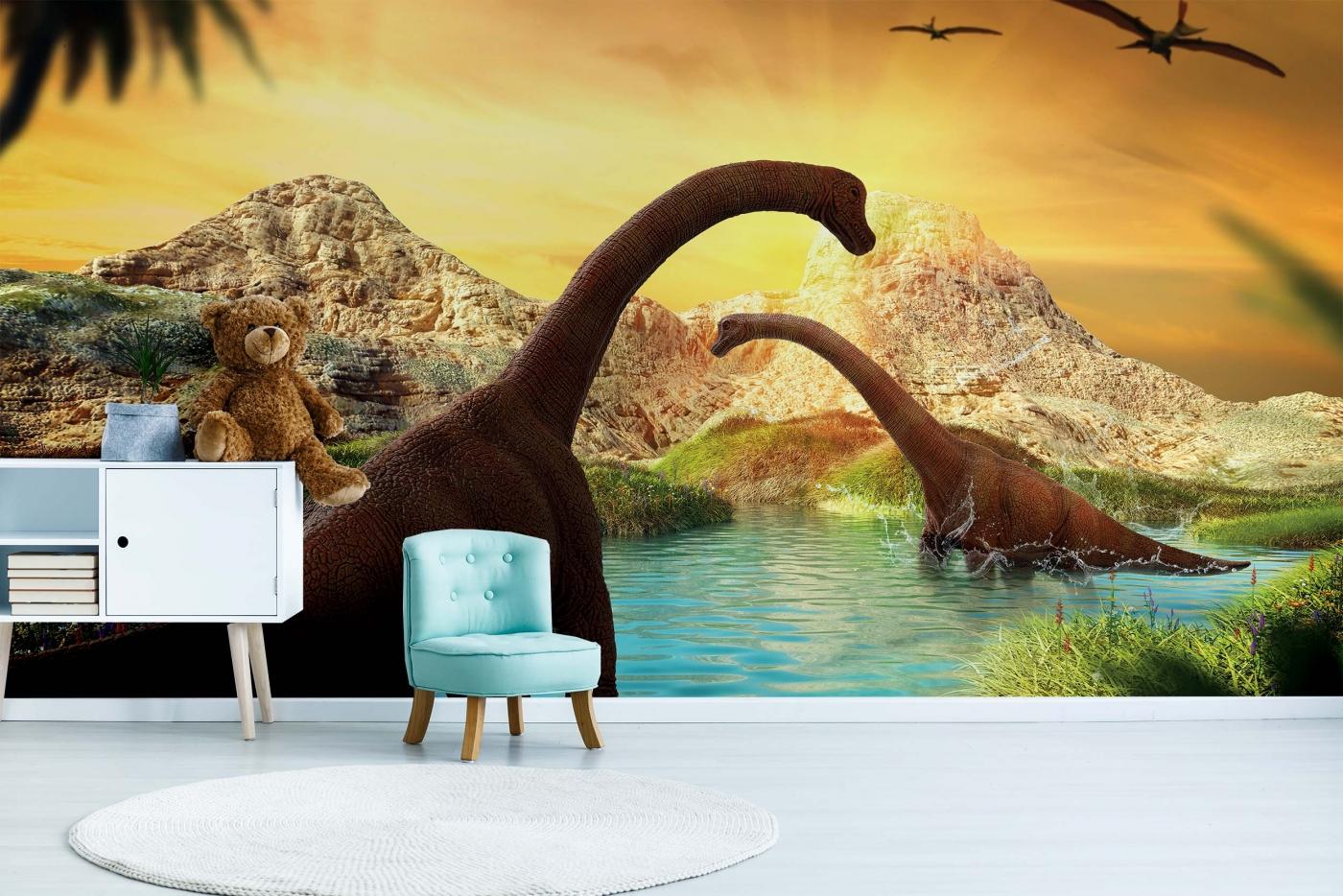 Tapeta Dinosauři, 144 x 105 cm