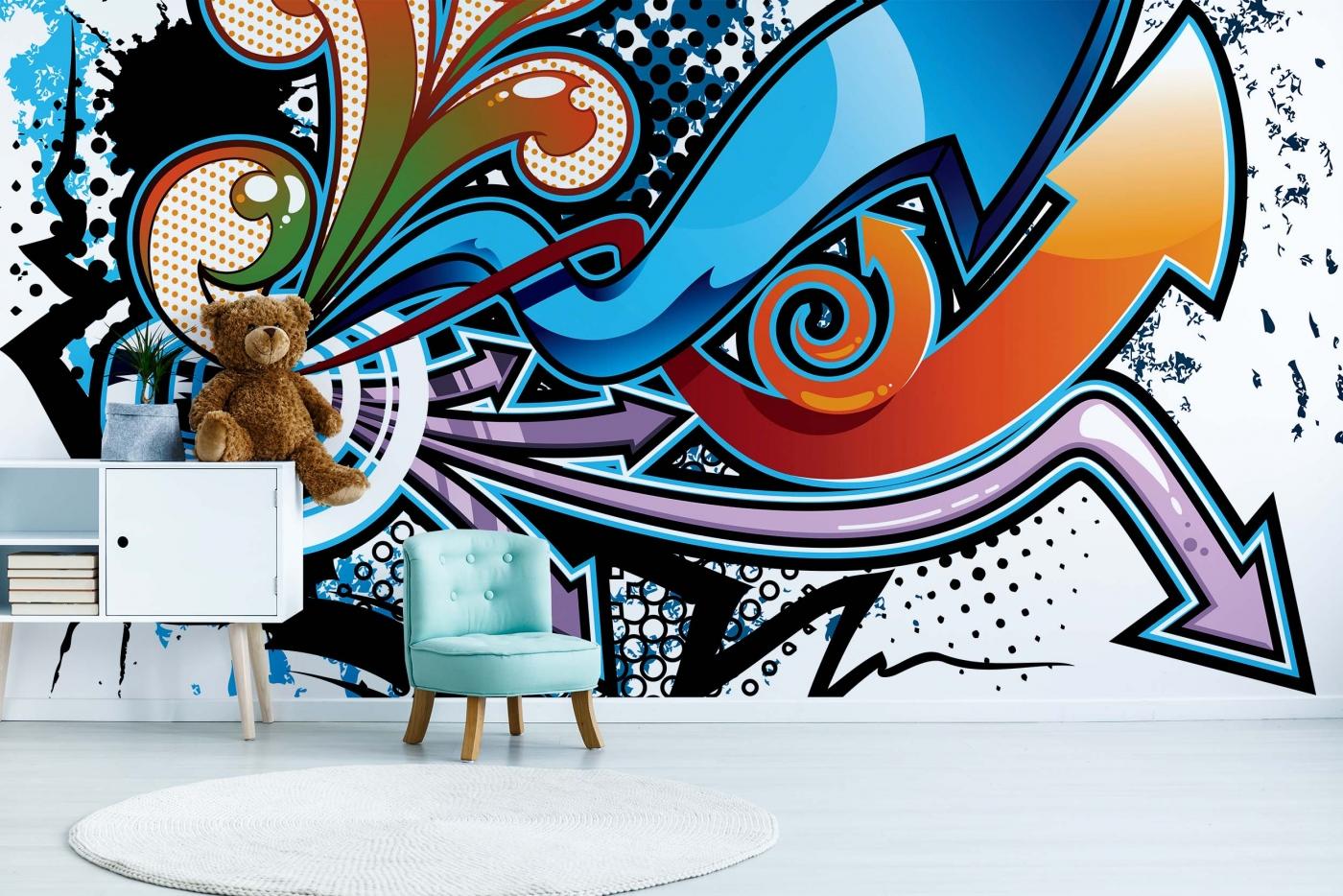 Tapeta Graffiti, 216 x 140 cm