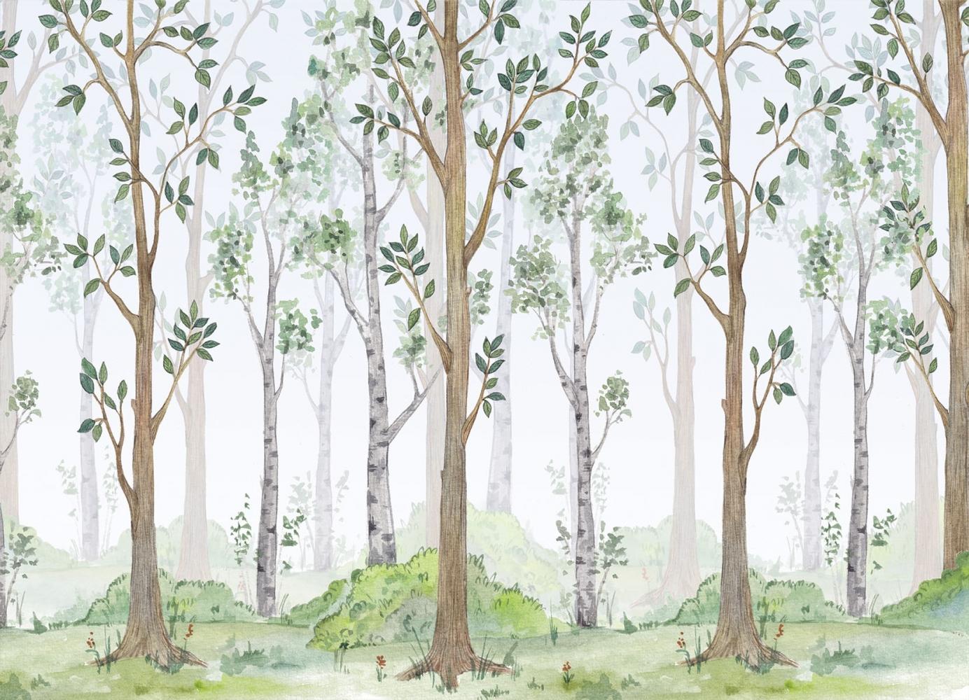 Tapeta Les ilustrace, 144 x 105 cm