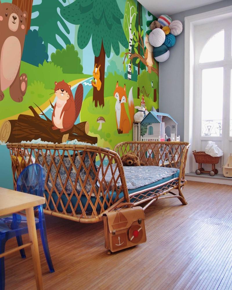Tapeta Lesní zvířátka, 360 x 260 cm