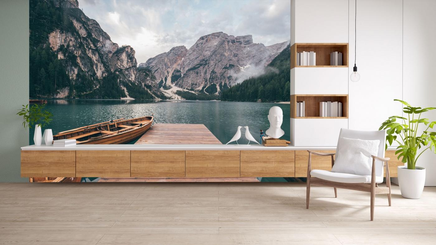 Tapeta Molo na jezeře, 216 x 140 cm