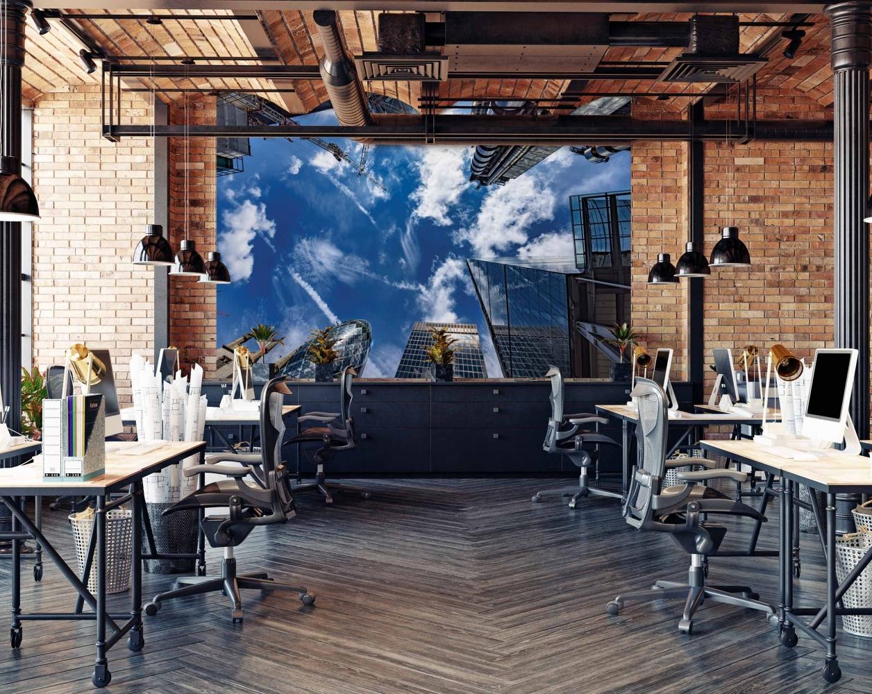 Tapeta Mrakodrapy Londýn, 216 x 140 cm