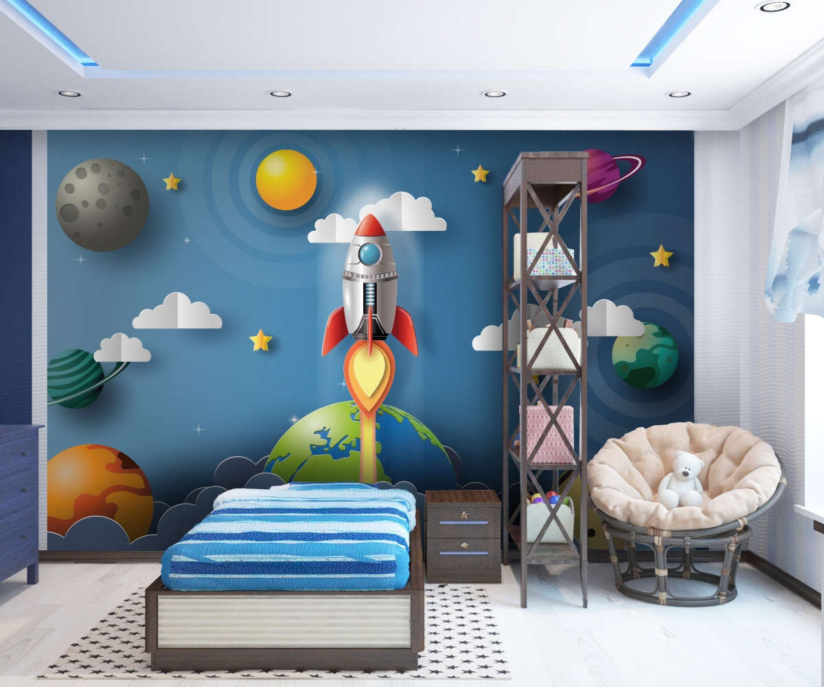 Tapeta Raketa ve vesmíru, 288 x 200 cm