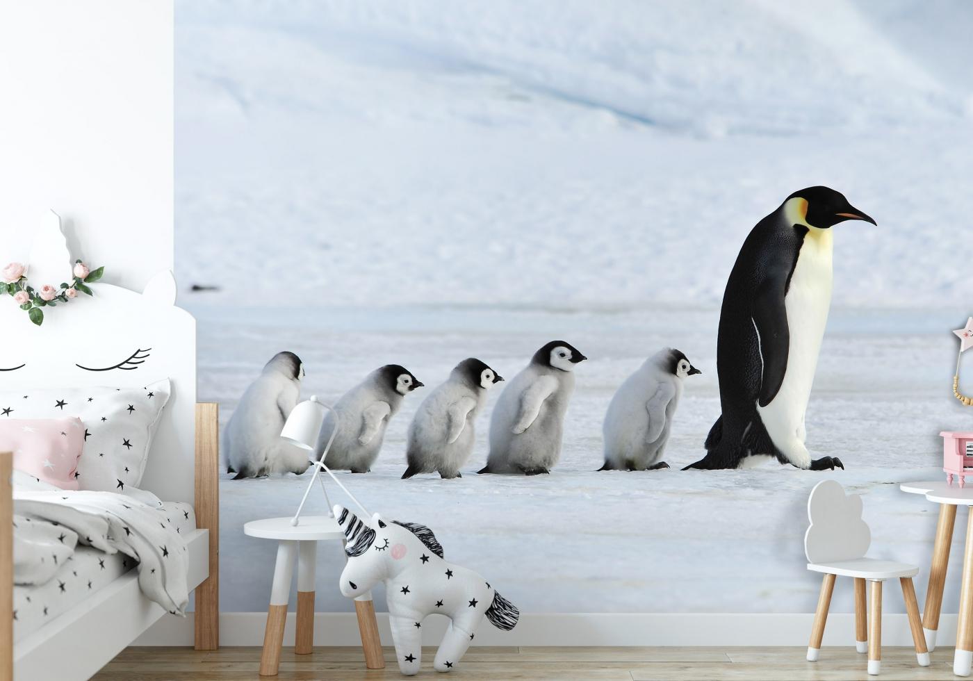 Tapeta Rodina tučňáků, 504 x 310 cm