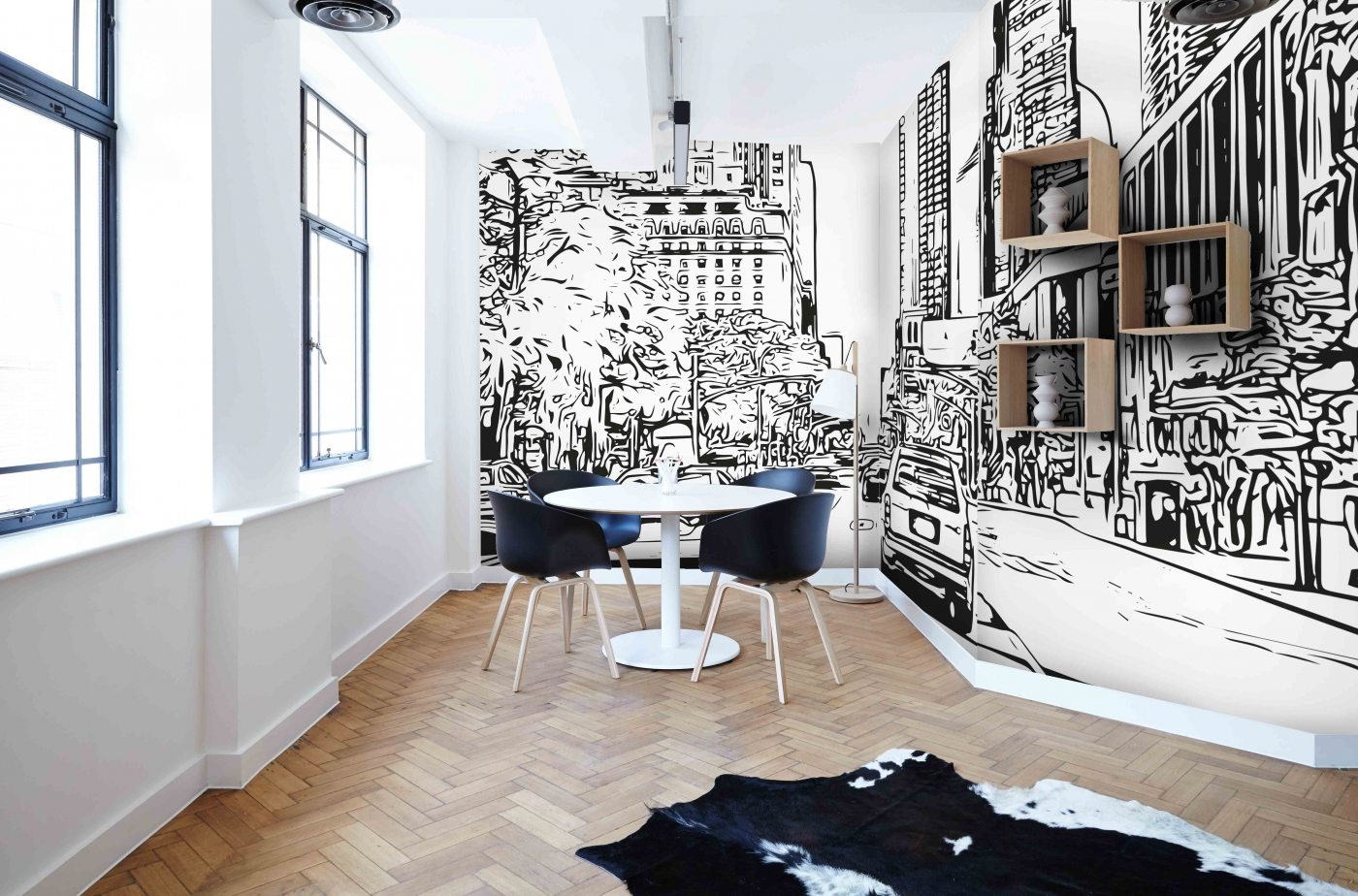 Tapeta Skica New York City, 216 x 140 cm