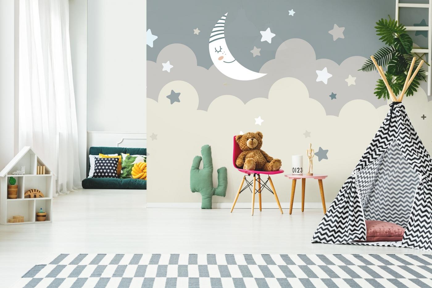 Tapeta Spící měsíc, 144 x 105 cm