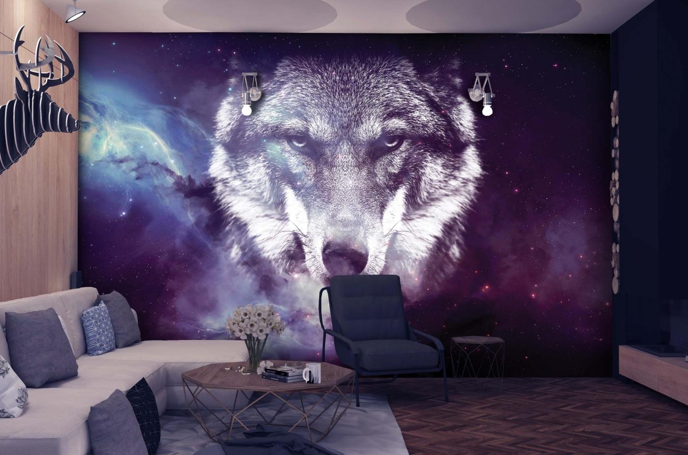 Tapeta Vesmírný vlk, 144 x 105 cm