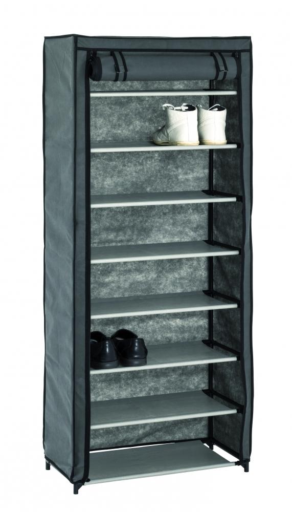 Textilní botník Preston, 142 cm, šedá / černá