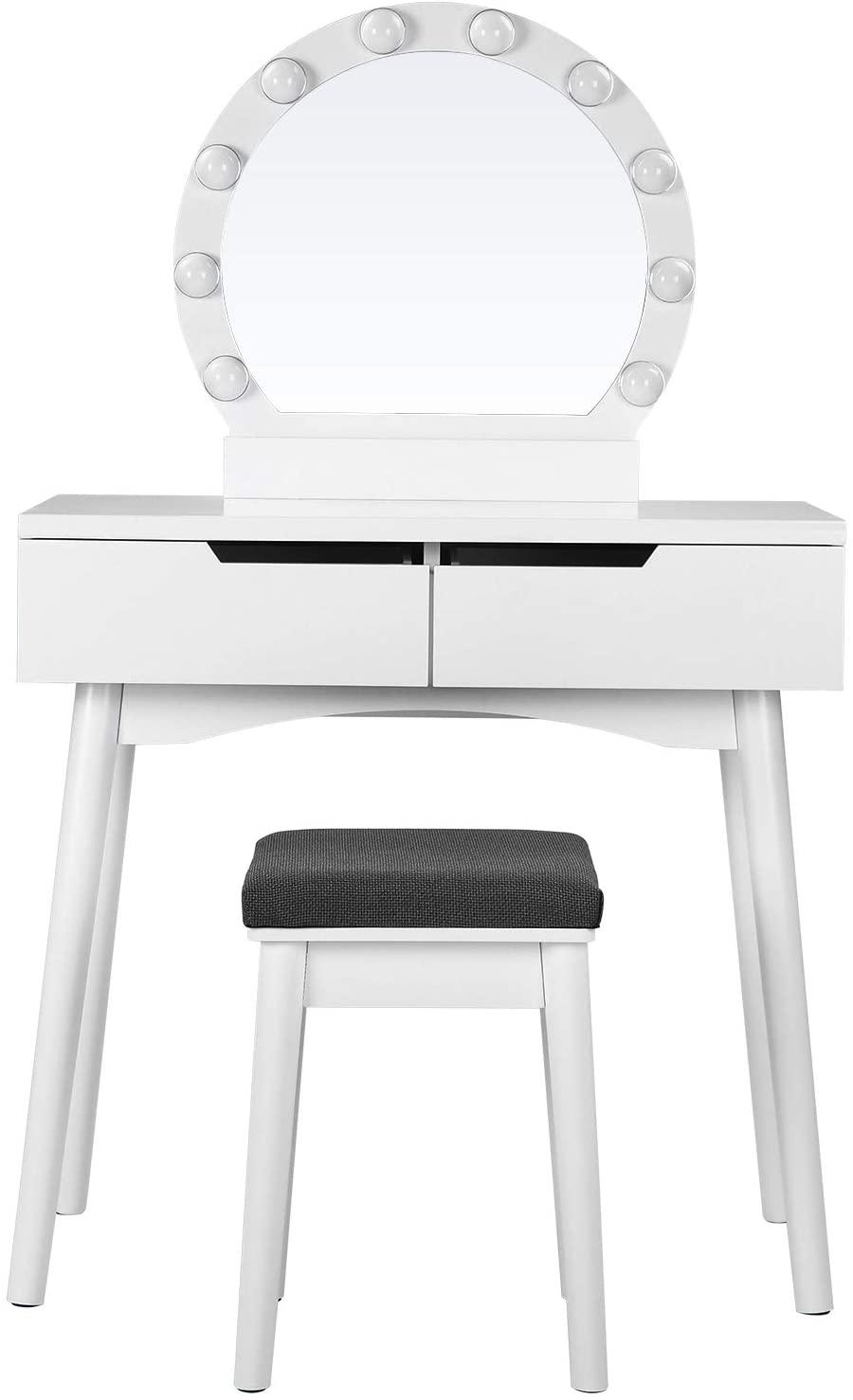 Toaletní stolek Ariel, 131 cm, bílá