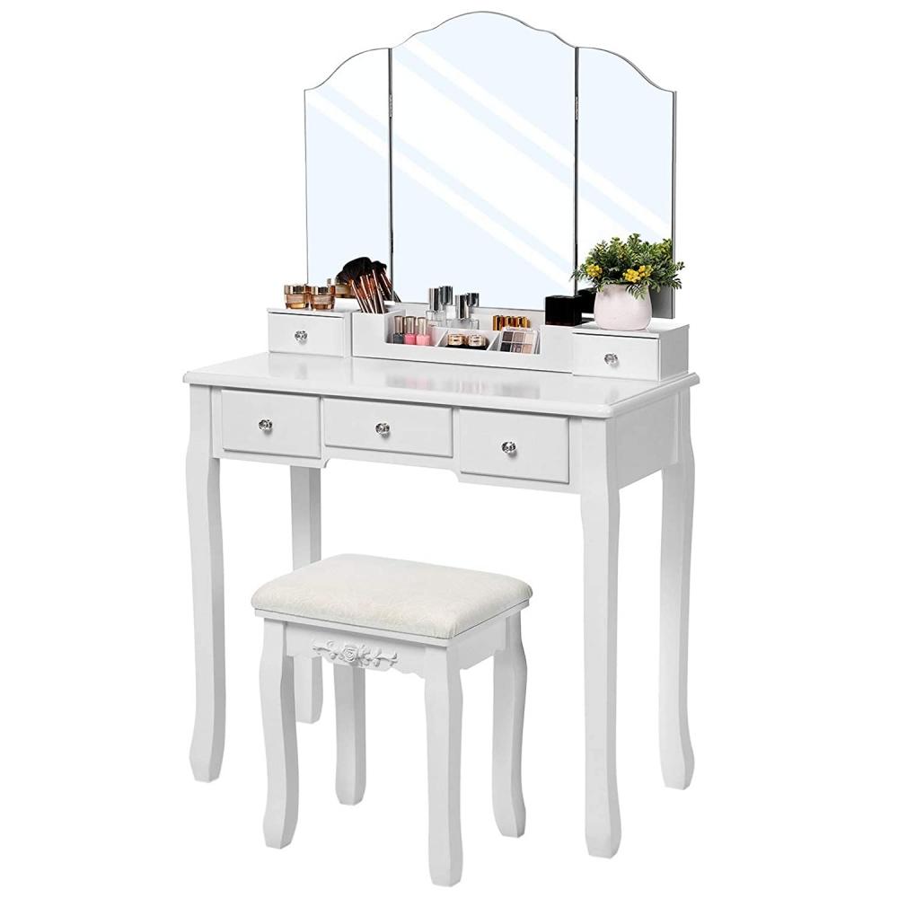 Toaletní stolek Elen, 138 cm, bílá