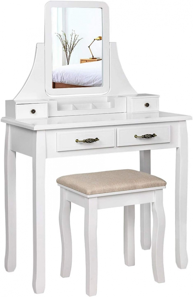 Toaletní stolek Mira, 138 cm, bílá