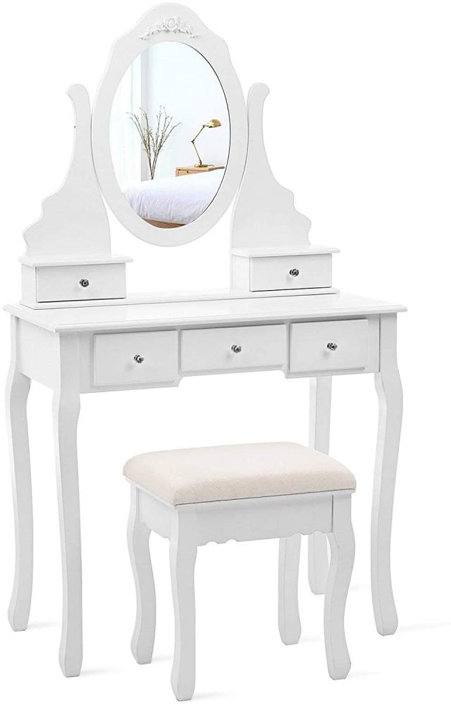 Toaletní stolek Miriam, 145 cm, bílá