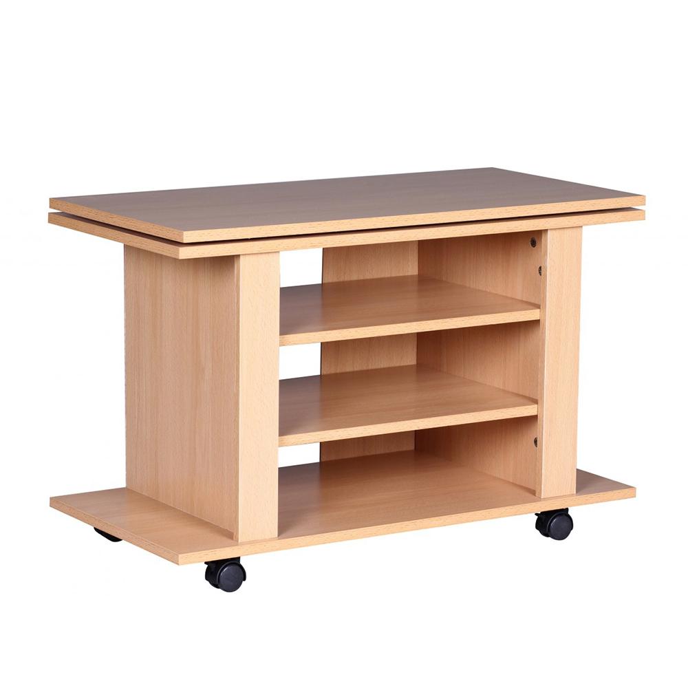 TV / Hifi stolek Luca s otočnou deskou, 75 cm, buk