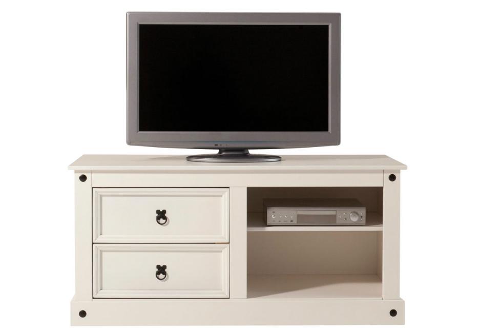 TV stolek Alfred, 120 cm, bílá
