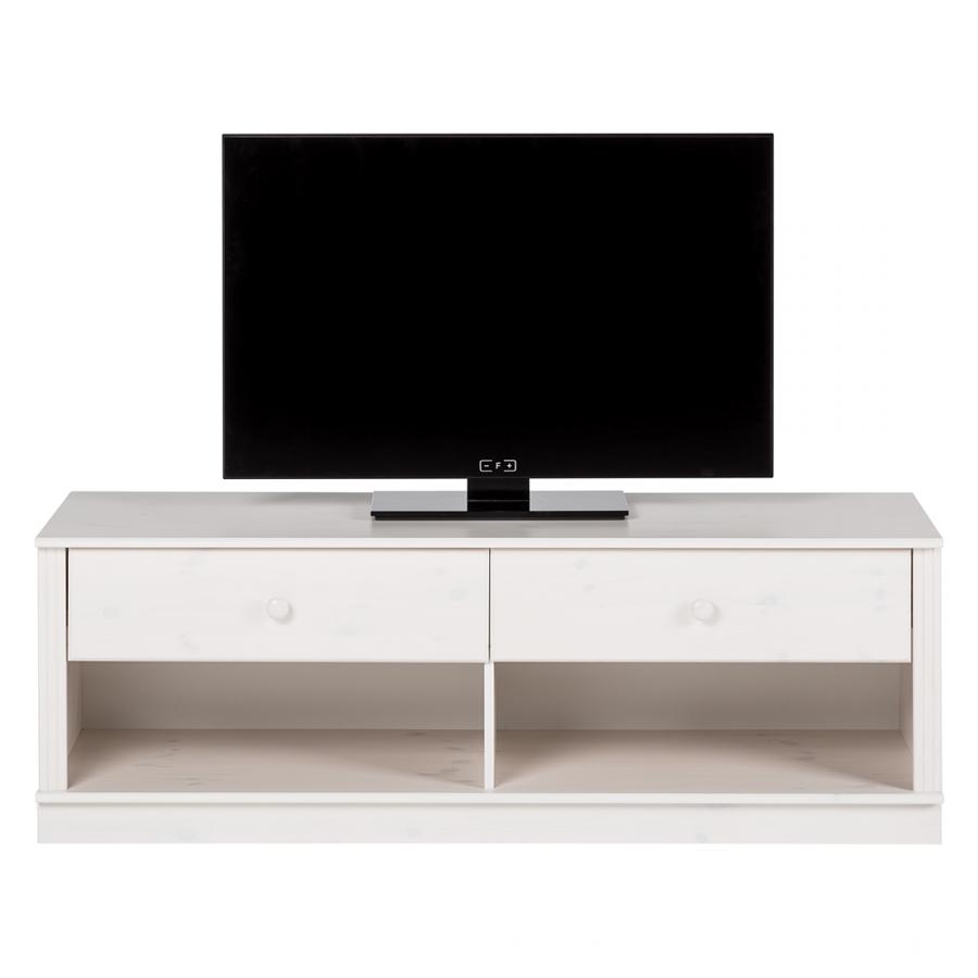 Tv stolek Anat, 136 cm,  bílá